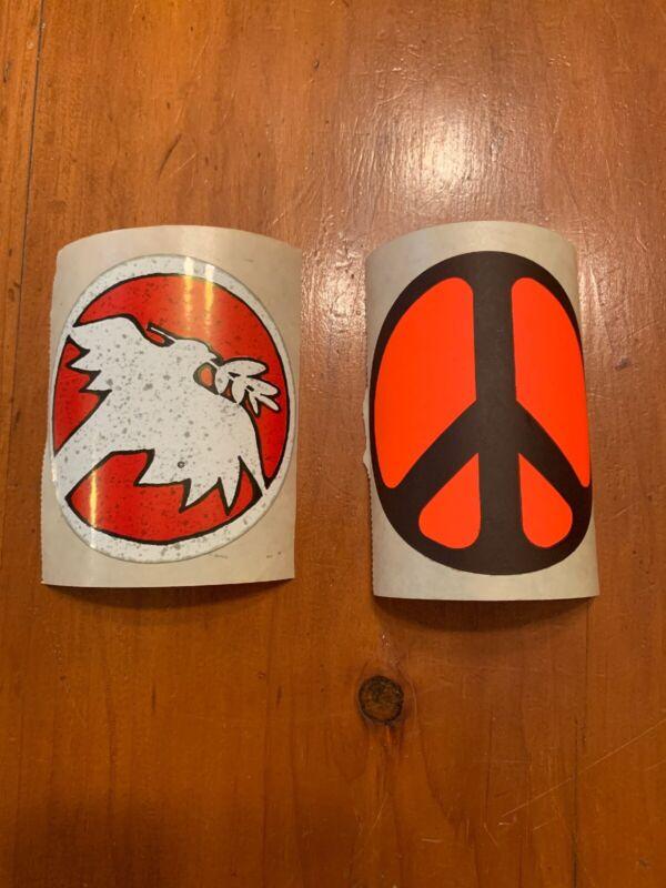 Vintage Woodstock Hippie Peace Movement Sticker Pair **Look**