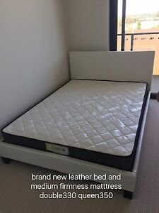 Brand new mattress and leather base double330 queen350 can delivery Carlton Melbourne City Preview