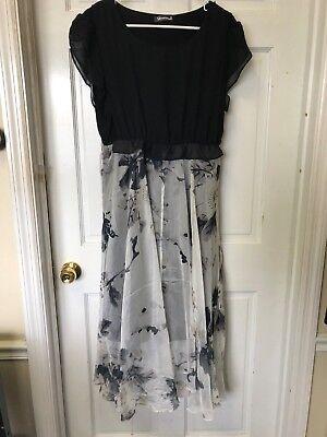 Stylewe Simida Black Floral Dress Size Us 12 Nwt