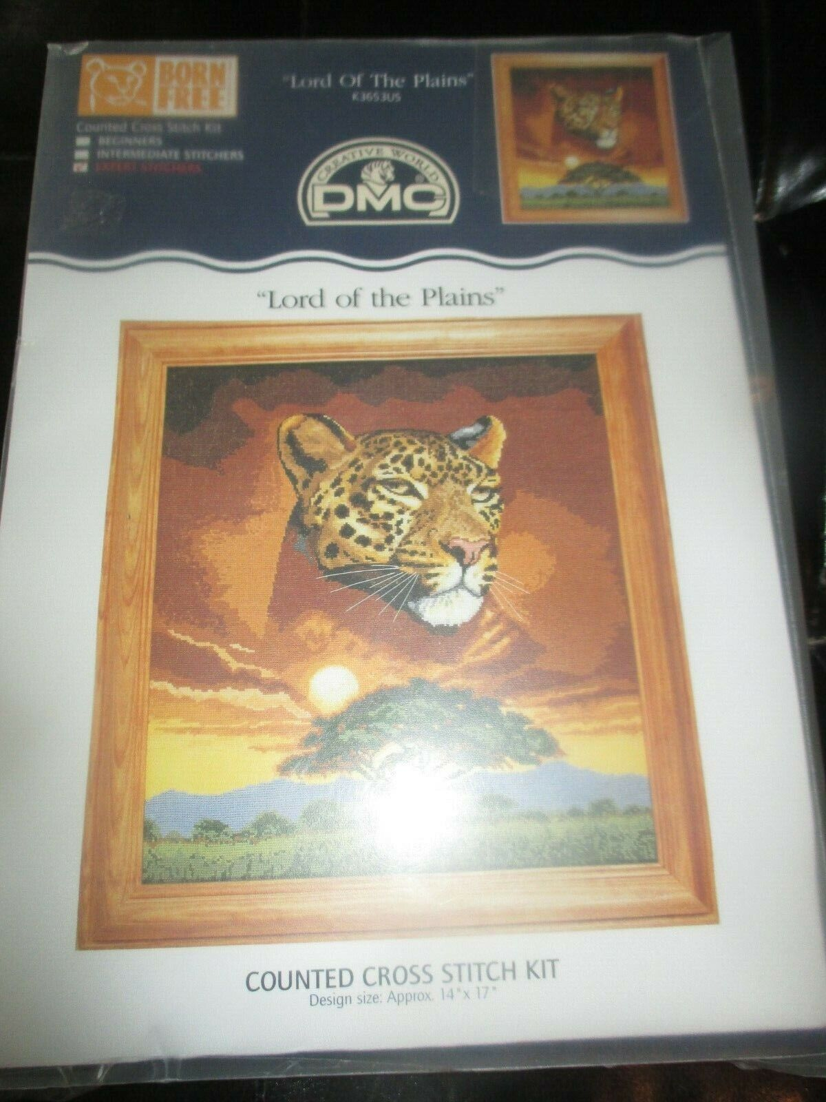 DMC Vintage LORD OF THE PLAINS CHEETAH Counted Cross Stitch