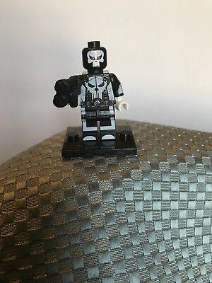 Custom Marvel Lego Minifigure Super Hero The Punisher, New](Super Hero Custom)