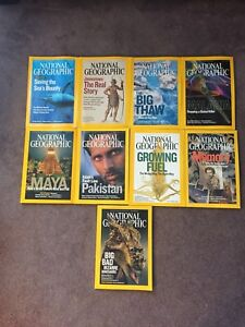 9 National Geographic Magazines from 2007