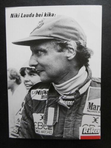 Niki Lauda Autogramm signed 10x15 cm Postkarte s/w