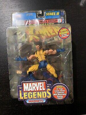 Marvel Legends Series 3 Wolverine Unmasked Variant Magneto Misprint Rare