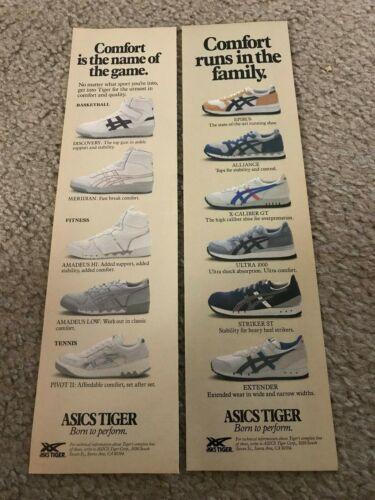 ASICS TIGER Running Shoes Poster Print Ad ULTRA 1000 X-CALIBER GT EPIRUS STRIKER