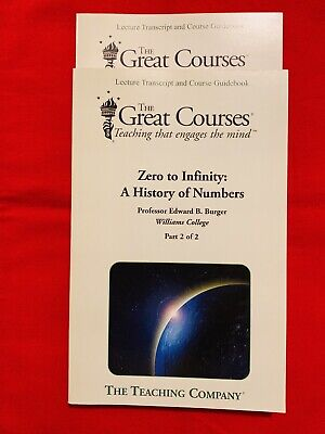The Great Courses:Zero to Infinity-A History of Numbers Parts 1&2 With DVD (Zero To Infinity A History Of Numbers)