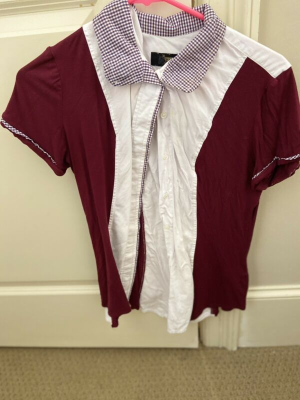 Le Fash Show Shirt Burgundy With Magnetic Collar Medium