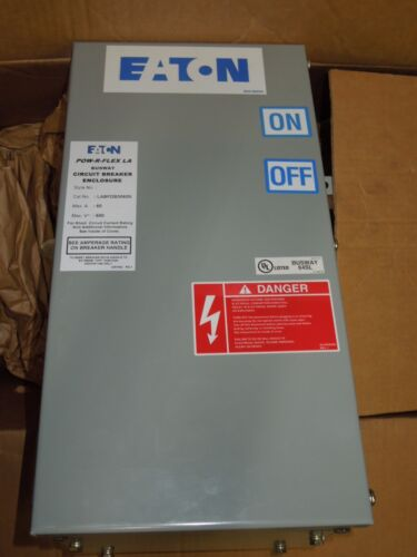 Eaton Labfdb3060n Pow-r-flex La Busplug 60a 3ph 4w 600v Circuit Breaker Surplus