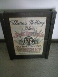 RARE VINTAGE JACK DANIELS OLD NO. 7 TENNESSEE WHISKEY WOODEN WALL CLOCK