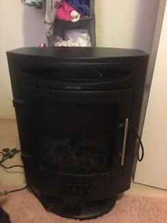 Two Electric Heaters Fake Woodfire