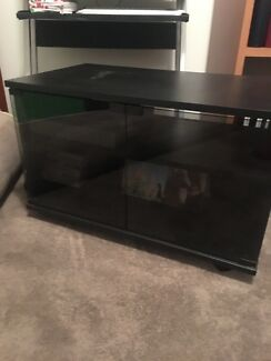 Black TV/VIDEO/DVD Cabinet
