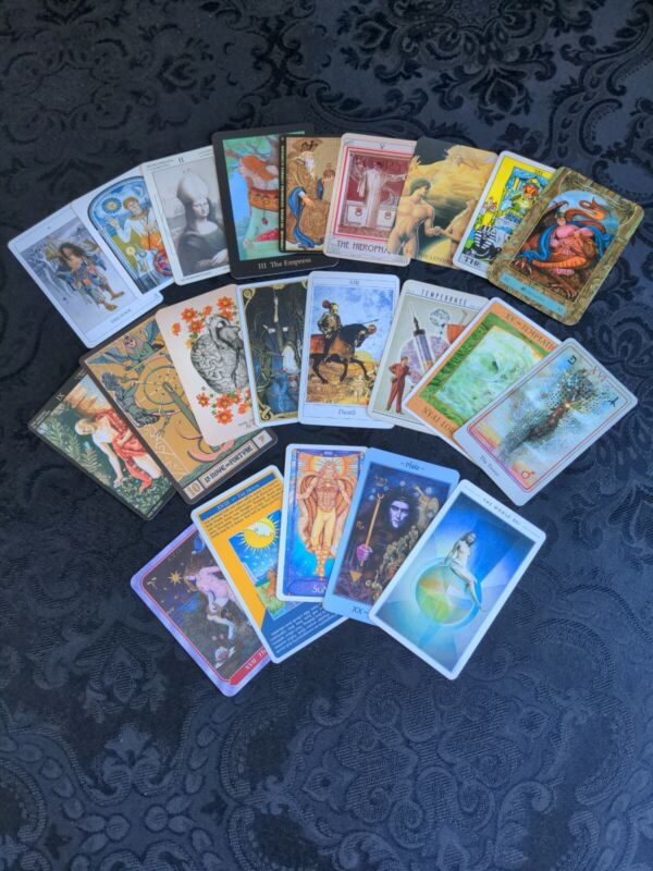 22 *Major Arcana* Coordinated Tarot Cards *All Different* #0-21 COMPLETE Occult