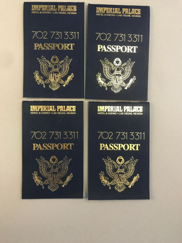 Imperial Palace Passport Notepad- Vintage Vegas Casino Collectible