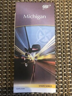 AAA MICHIGAN Travel Road Map US State Series Vacation Roadtrip Roadmap 2018-2019