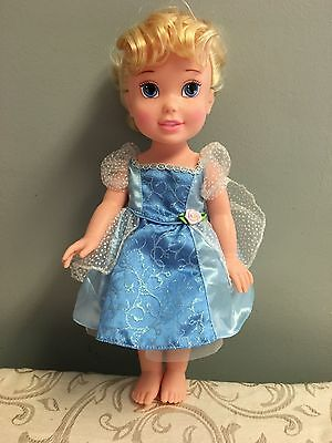 MY FIRST DISNEY PRINCESS 14in Toddler Doll Cinderella EUC