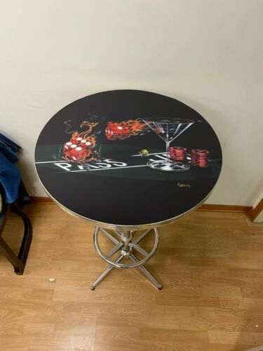 MICHAEL GODARD PRAYING FOR SEVEN PUB TABLE - NEVER USED BUT HAS MARKS