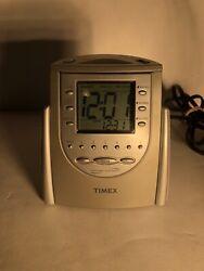 Timex Nature Sounds AM/FM Clock Radio Alarm T-309T 6 Presets