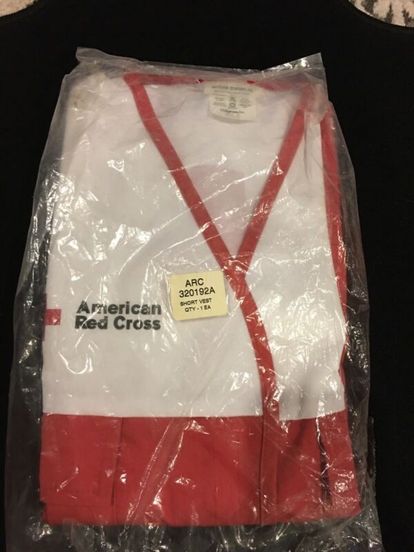 VTG AMERICAN RED CROSS DISASTER RELIEF VEST SZ Small