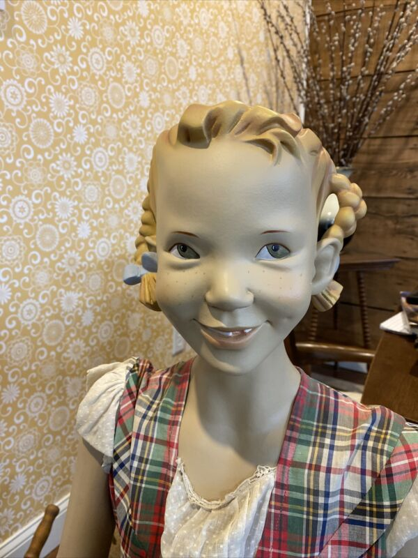 Vintage Febret Young Girl Mannequin Store Display