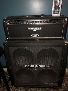 Behringer 4x12 cabinet and head