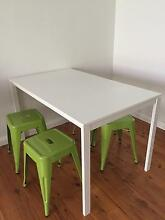 White dining table with four  stools Cronulla Sutherland Area Preview