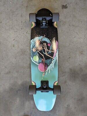 Landyachtz Dugout Complete, Surfing Skeleton Skateboard (BLEM)