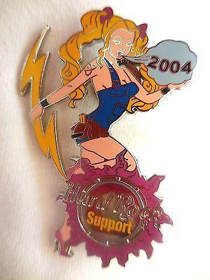 Hard Rock Cafe Hri Unterstützung Energie Mädchen Prototype Staff '04 Pin ()
