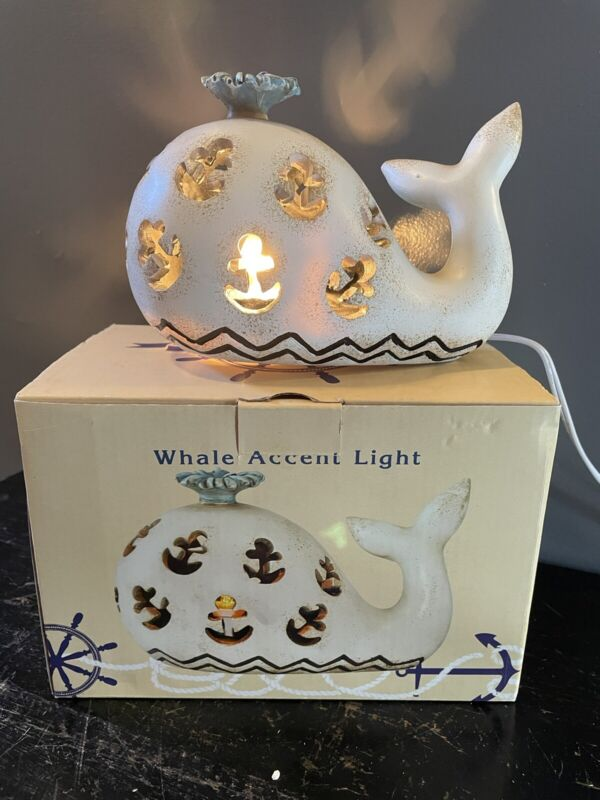 Cracker Barrel Whale Accent Light Whale Nightlight NIB Ocean Lamp VERY RARE