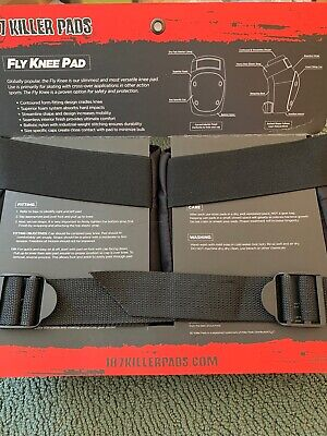 187 Killer Pads Skateboard Fly Knee Pads Black Size M Medium NEW
