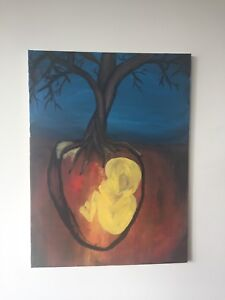"""First Nation painting: """"Roots"""""""