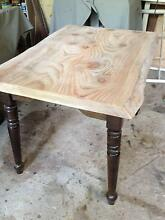 Small Table,dining, single piece solid Pine top,natural edge. East Kurrajong Hawkesbury Area Preview