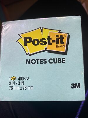 Post-it Notes Cube 3m 3 X 3 400 Sheets Teal Yellow Pink - 2027-pkor