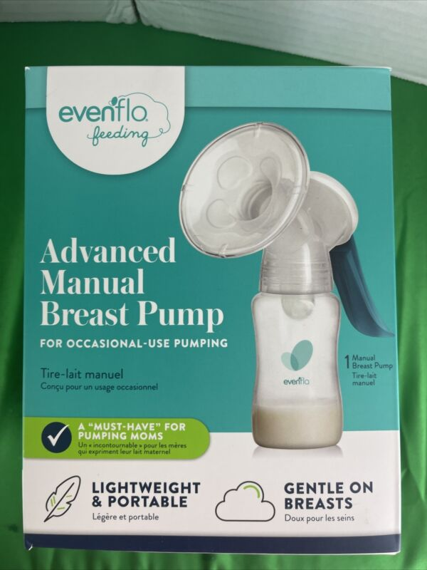 Evenflo Feeding Portable Advanced  Manual .Breast Pump, MInor Box Damage