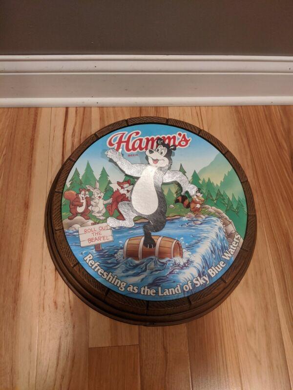 Vintage Hamms Jumping Barrell Bear Beer Spring Motion Non Illuminated Sign