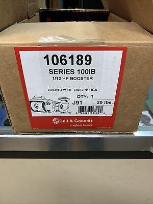 Bg Bell Gossett 106189 112 Hp Series 100 Nfi Circulator Pump Nos Nib
