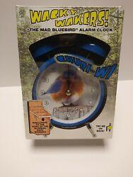 Wacky Wakers Alarm Clock The Mad Bluebird NIB Bird Clock Bluebird Singing