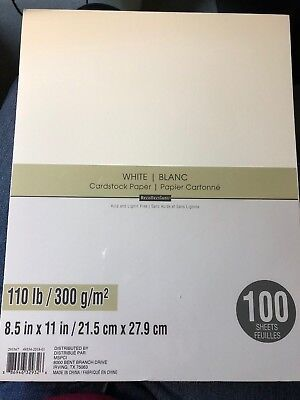 "Recollections Heavyweight "" WHITE "" Cardstock Paper 8.5"" x 11""  100 sheets"