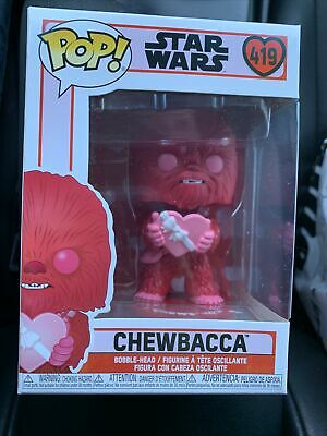 FUNKO POP STAR WARS VALENTINE CHEWBACCA #419 I CHEWS YOU- In Hand!!