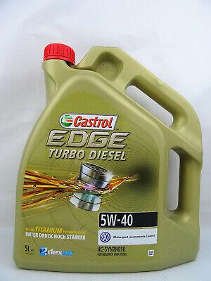 Castrol 5W40 Turbo Diesel Edge Öl 5W-40 VW MB Opel Audi Skoda 1535BC 5Liter