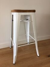 Teak timber white bar stool Figtree Wollongong Area Preview