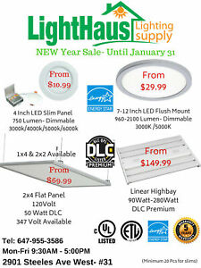 LED Slim Panel Light * 2x4 Flat LED Pot light* LED light bulb
