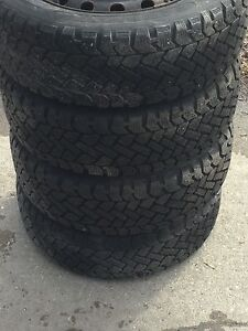 4x185-60r14 M+S tires with rims