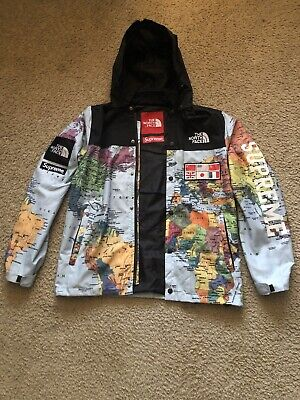 Supreme x The North Face Lightweight Expedition Jacket Multi Map SS14 Size M