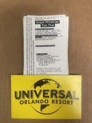 Five Universal Orlando Express Pass Single Use