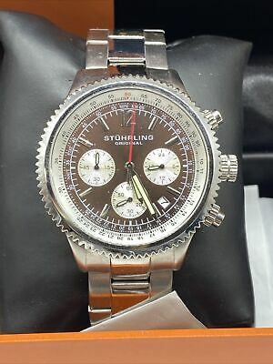 Stuhrling Original  Chronograph All Stainless Steel Men's Watch