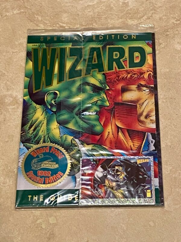 WIZARD The Price Guide to Comics SPECIAL 1992 SDCC EDITION Sealed 2 Prism Cards