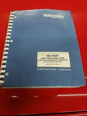 Tektronix 492492p Spectrum Analyzer Service Manual V1 Sn B029999 And Below