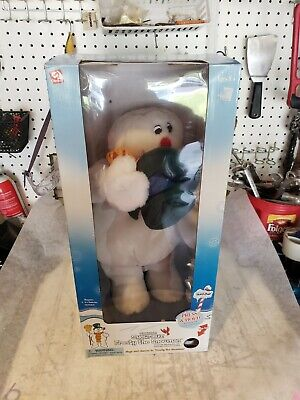 Rare Gemmy Frosty The Snowman Christmas Spinning Snowflake 18""
