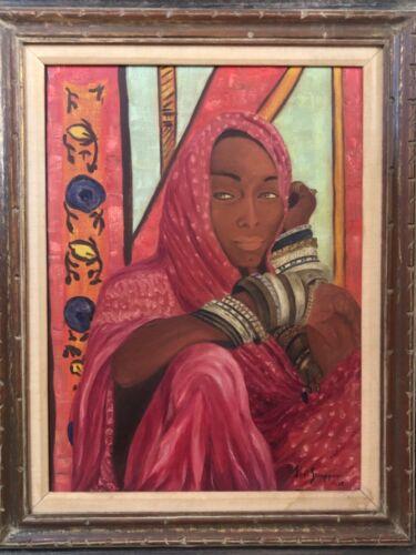 🔥 Antique Mid Century Black African American Modern Oil Painting, Irma Stern