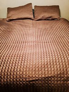 Comforter, bed skirt & 2 decorative pillows